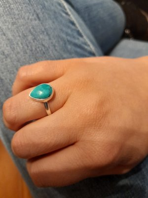 Silver Ring silver-colored-turquoise
