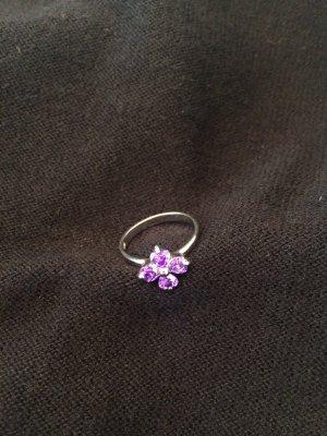 Srebrny pierścionek srebrny-liliowy Prawdziwe srebro