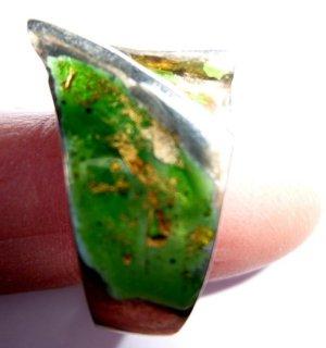 Ehinger Schwarz Bague en argent vert
