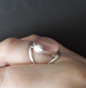 Anello d'argento argento-rosa pallido