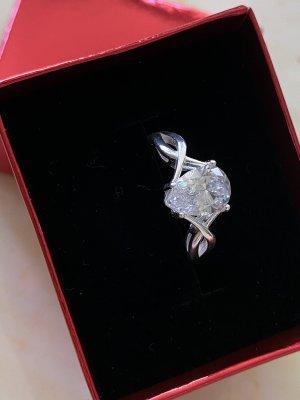925er Silber Anello d'argento argento-bianco