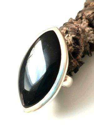 Silberring Onxy Schwarz - Gr. 60 - Neu