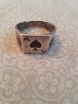 Silberring Pik ♠️ - Vintage Ring - Rockabilly - Pikzeichen - Herrenring Gr. 64 %SALE%
