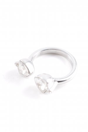Silver Ring silver-colored-cream elegant