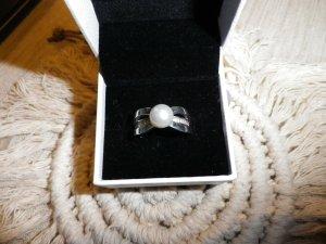 Silberring von Esprit mit Perle, Größe 55-56