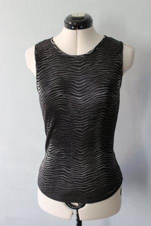 Biaggini A-lijn top zwart-zilver Polyester