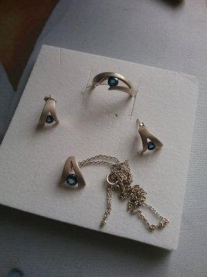 Catena d'argento argento-blu acciaio
