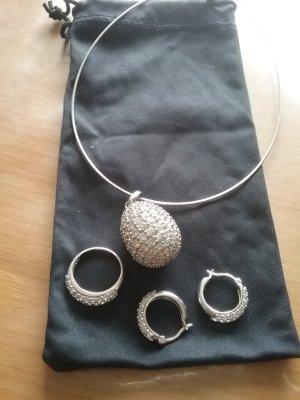 Ricarda M Catena d'argento bianco-argento