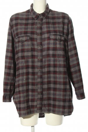 Silence + Noise Flannel Shirt light grey-red check pattern casual look