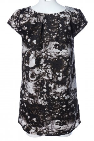 Silence + Noise Minikleid schwarz-weiß abstraktes Muster Casual-Look