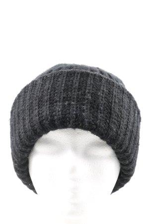 Silence + Noise Cappello a maglia nero punto treccia stile casual