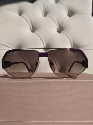 Silhouette Lunettes de soleil angulaires brun-violet