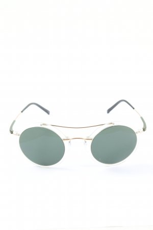 Silhouette runde Sonnenbrille türkis-grün Elegant
