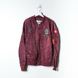 Sonstige Bomber Jacket red silk