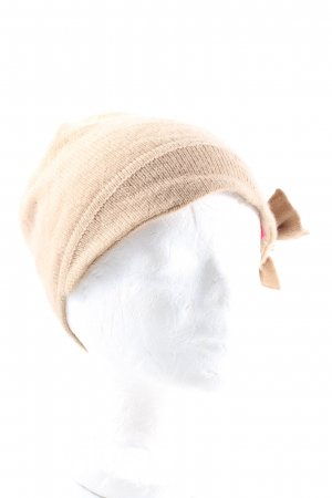 Silk & Cashmere Knitted Hat nude casual look