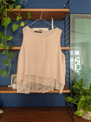 Silk look lace top