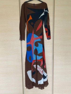 Akris Robe longue multicolore