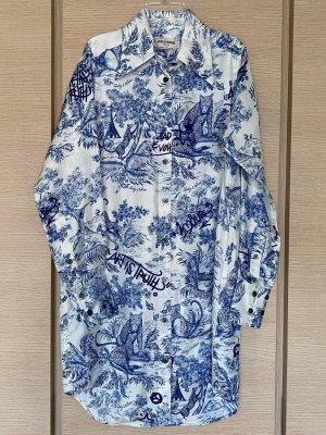 Zadig & Voltaire Koszulowa sukienka biały-stalowy niebieski