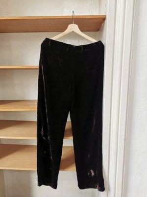 Westerlind Pantalone palazzo marrone scuro Seta