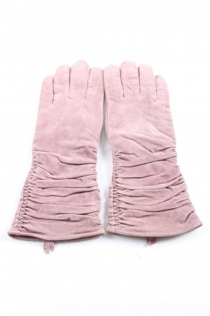 Silkroad Leather Gloves pink casual look