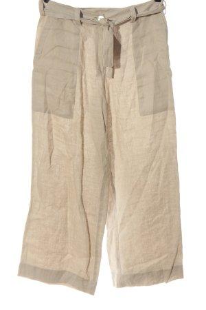 Silkroad Pantalón de lino crema look casual