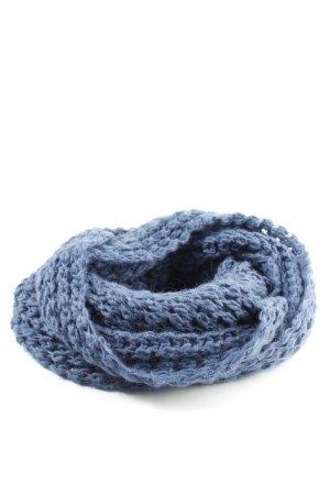 Silkroad Caperuza azul punto trenzado look casual