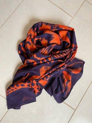 Fabric Frontline Zurich Silk Scarf brown violet-orange