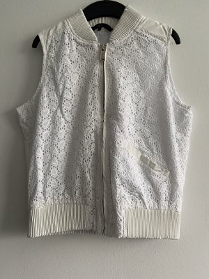 Leather Vest white