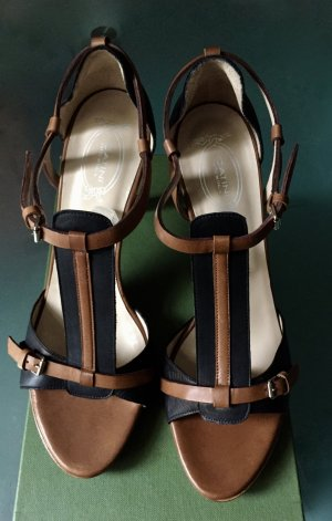 Catini Italia Hoge hakken sandalen veelkleurig Leer