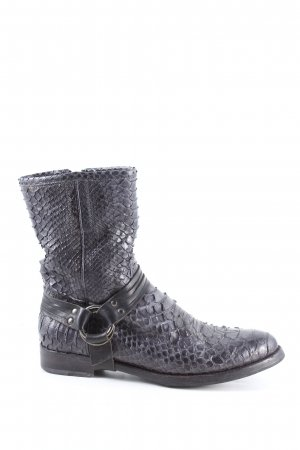 Silvano sassetti Boots western gris clair motif animal style décontracté