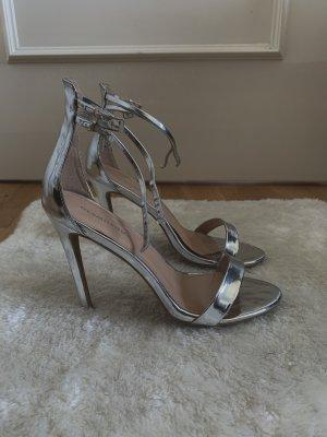 Glamourous Sandales à talon haut argenté
