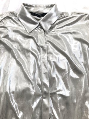Zara Long Sleeve Shirt silver-colored
