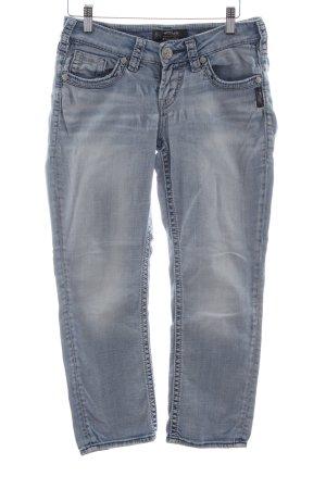 Silver Jeans 3/4 Jeans blau Casual-Look
