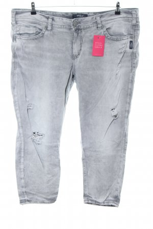 Silver Jeans 7/8-Hose hellgrau Casual-Look