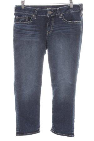 Silver Jeans 7/8 Jeans dunkelblau Used-Optik