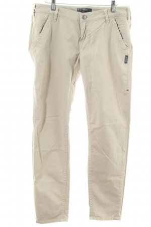 Silver Jeans Chinohose wollweiß Casual-Look