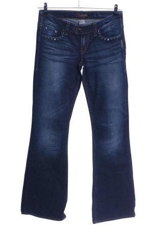 Silver Jeans Jeans flare bleu lettrage brodé style décontracté