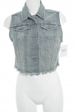 Silver Jeans Jeansweste wollweiß-hellblau Used-Optik
