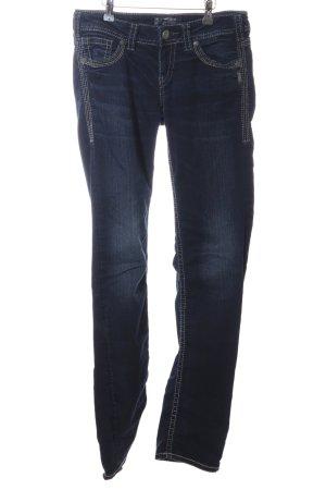 Silver Jeans Slim Jeans blau Casual-Look
