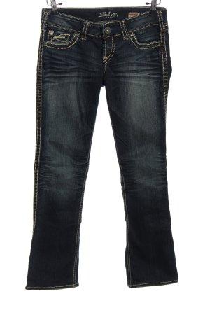 Silver Jeans Straight-Leg Jeans schwarz Casual-Look