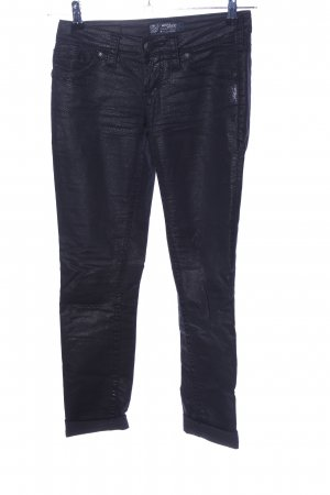 Silver Jeans Stretchhose schwarz Allover-Druck Casual-Look