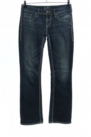 Silver Jeansschlaghose blau Casual-Look