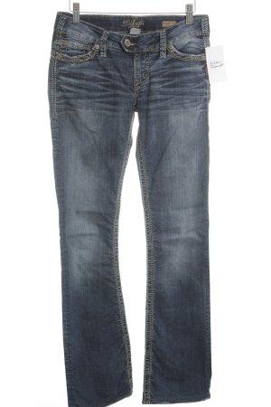 Silver Jeansschlaghose dunkelblau 80ies-Stil