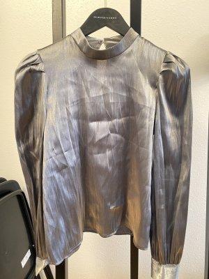 Silver Metallic blouse, S