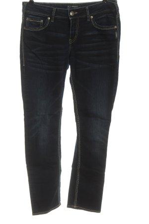 Silver Straight-Leg Jeans blau Casual-Look
