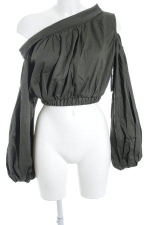 Silvia Tcherassi Carmen-Bluse khaki extravaganter Stil