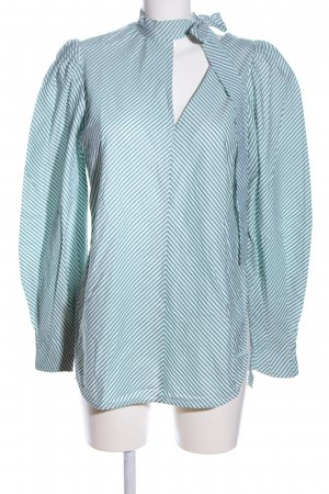 Silvia Tcherassi Long Blouse blue-white allover print casual look