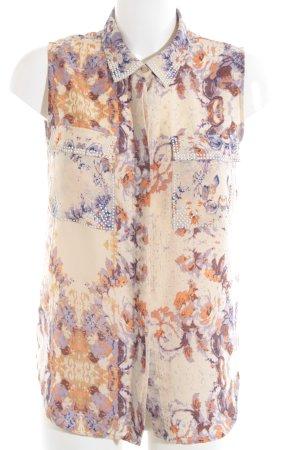 Silvian heach ärmellose Bluse abstraktes Muster Casual-Look