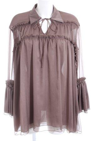 Silvian heach Blusenkleid braun Casual-Look