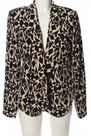 Silvian heach Cardigan weiß-schwarz abstraktes Muster Casual-Look